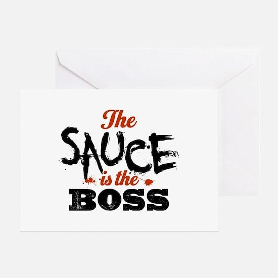Boss Sauce Greeting Card