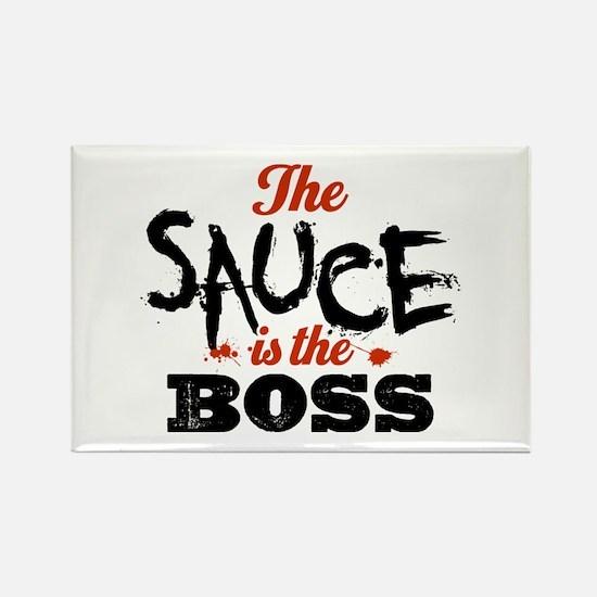 Boss Sauce Rectangle Magnet