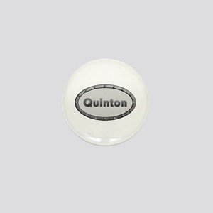 Quinton Metal Oval Mini Button