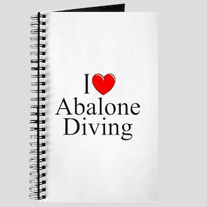 """""""I Love (Heart) Abalone Diving"""" Journal"""
