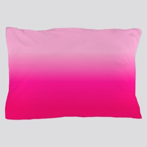 Pink Ombre Pillow Case