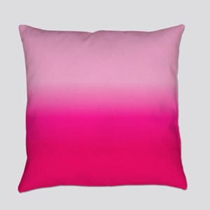 Pink Ombre Everyday Pillow