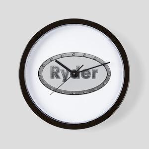Ryder Metal Oval Wall Clock