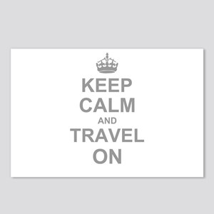 Keep Calm and Travel on Postcards (Package of 8)