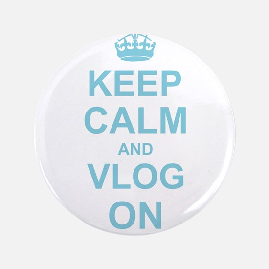 "Keep Calm and Vlog on 3.5"" Button (100 pack)"