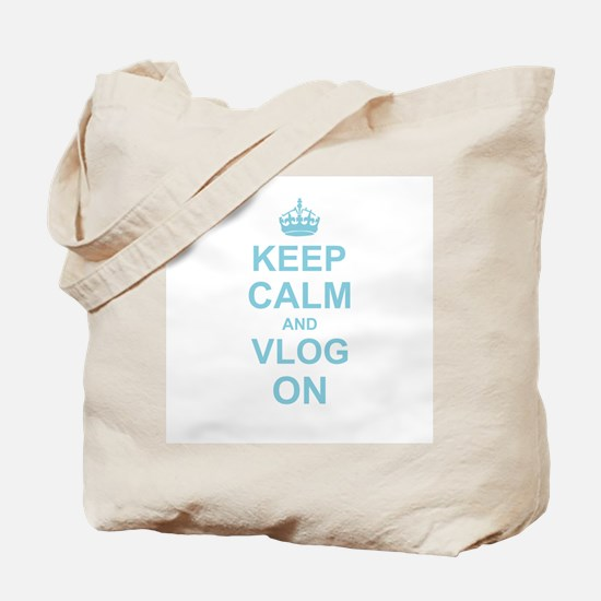 Keep Calm and Vlog on Tote Bag