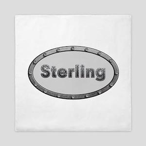 Sterling Metal Oval Queen Duvet