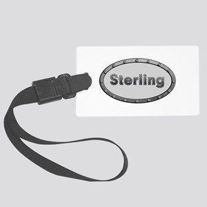 Sterling Metal Oval Large Luggage Tag