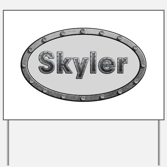 Skyler Metal Oval Yard Sign