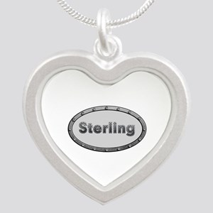 Sterling Metal Oval Silver Heart Necklace