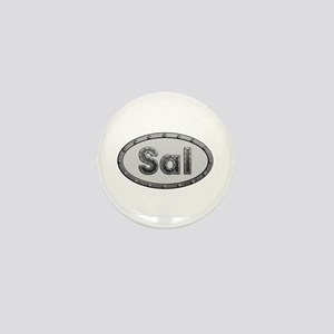 Sal Metal Oval Mini Button