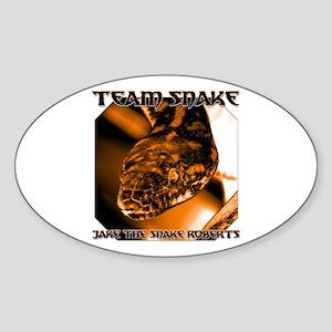 Team Snake Oval Sticker