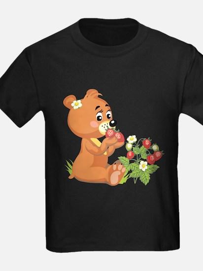 Teddy Bear Eating Strawberries T