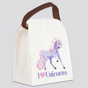 I Heart Unicorns Canvas Lunch Bag