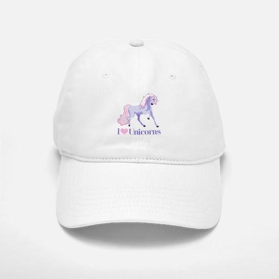 I Heart Unicorns Baseball Baseball Cap