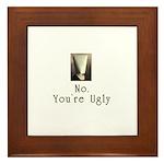 No. You're Ugly Framed Tile