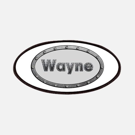 Wayne Metal Oval Patch