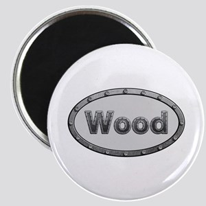 Wood Metal Oval Round Magnet