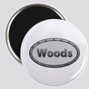 Woods Metal Oval Round Magnet