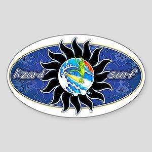 Lizard Surf Sun Oval Sticker