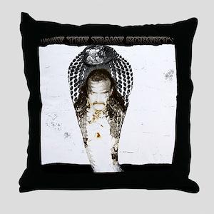 Jake Roberts Cobra Throw Pillow
