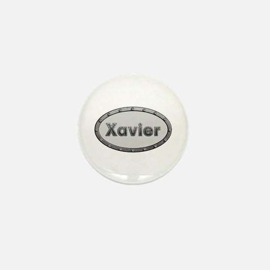 Xavier Metal Oval Mini Button