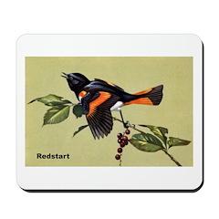 Redstart Bird Mousepad