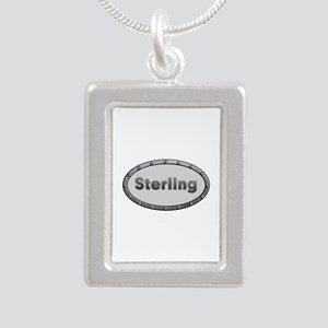 Sterling Metal Oval Silver Portrait Necklace