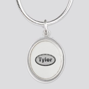 Tyler Metal Oval Silver Oval Necklace