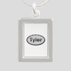 Tyler Metal Oval Silver Portrait Necklace