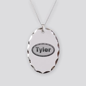 Tyler Metal Oval Oval Necklace