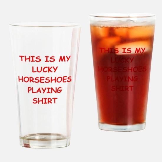 HORSESHOES2 Drinking Glass