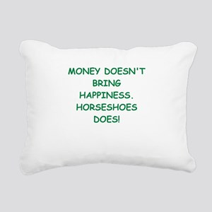 HORSESHOES Rectangular Canvas Pillow