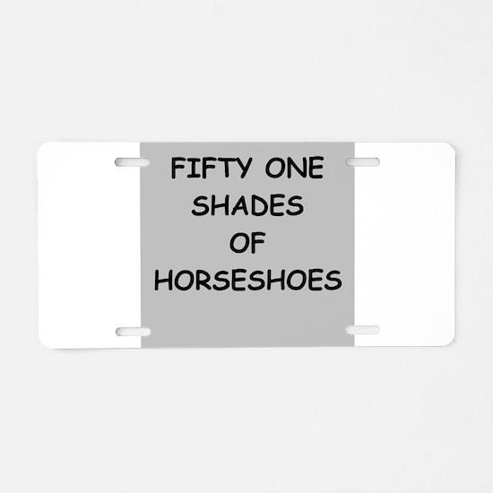 HORSE Aluminum License Plate