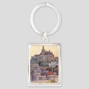Vintage Mont St-Michel Portrait Keychain