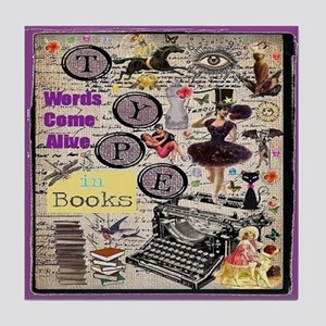 Words Come Alive Tile Coaster