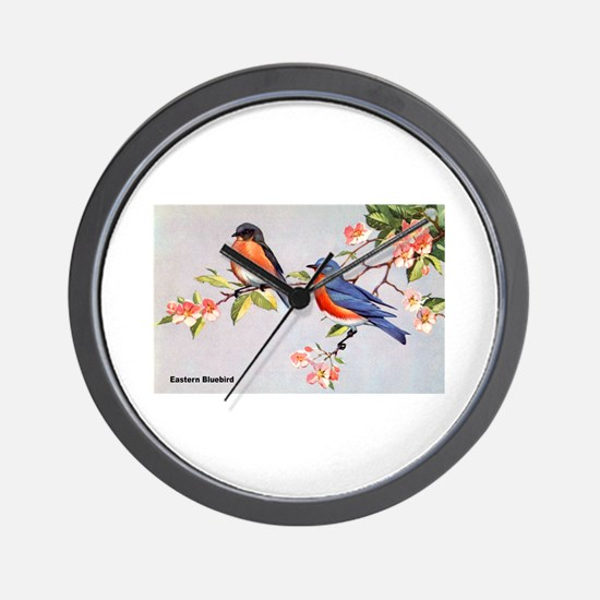 Eastern Bluebird Bird Wall Clock