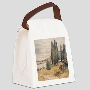 Chalk Cliffs Along the Seine Canvas Lunch Bag
