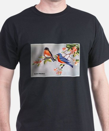 Eastern Bluebird Bird (Front) T-Shirt