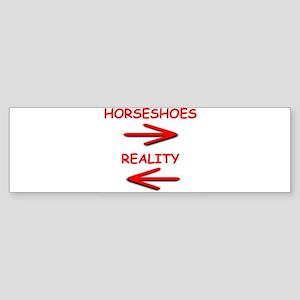 horseshoes Bumper Sticker