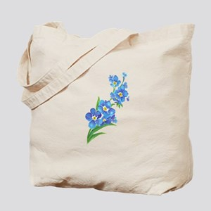 Forget Me Not Flower Watercolor Painting Tote Bag