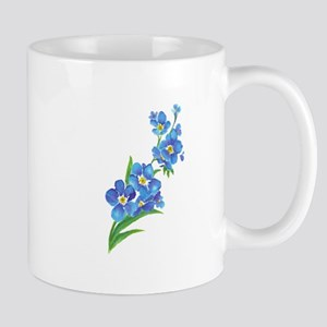 Forget Me Not Flower Watercolor Painting Mugs