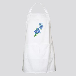 Forget Me Not Flower Watercolor Painting Apron