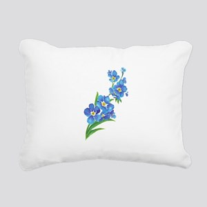Forget Me Not Flower Watercolor Painting Rectangul