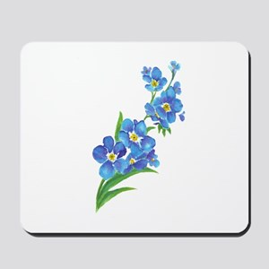 Forget Me Not Flower Watercolor Painting Mousepad
