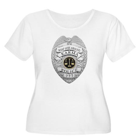 Karma Police Women's Plus Size Scoop Neck T-Shirt