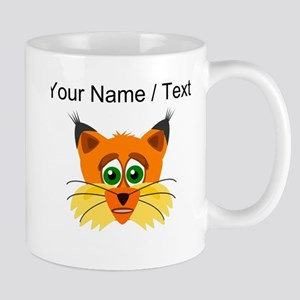Custom Scared Cartoon Lynx Mugs