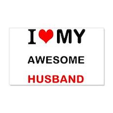 I Love My Awesome Husband Wall Decal