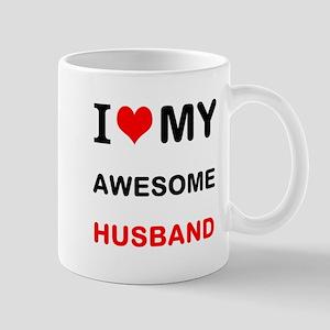 I Love My Awesome Husband Mugs