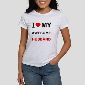I Love My Awesome Husband T-Shirt